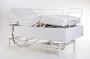 Cama Hospitalar Motorizada 3 Movimentos Pilati Confort + Cabeceira de grade + Colchão Articulado D33