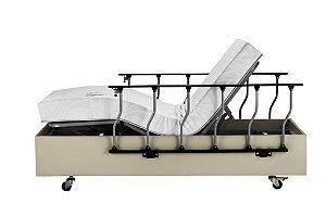 Cama Hospitalar Residencial Motorizada Milano + Colchão Articulado Super Luxo