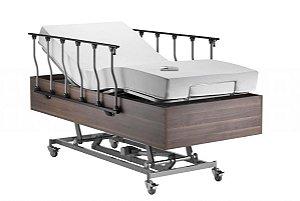 Cama Residencial Motorizada Veneza com Elevação de Leito + Colchão Articulado e Massageador - 110kg
