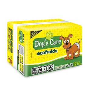 Fralda Dog's Care Ecofralda para Cães Machos 12 Unidades
