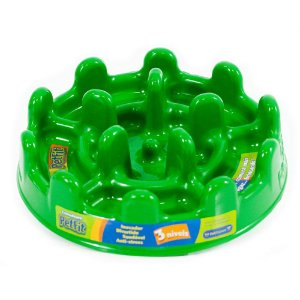 Comedouro Interativo Pet Fit Lento Pet Games Verde