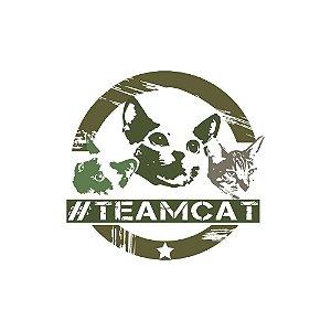 Roupinha para gato Estampa Team Cat