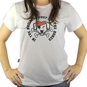 Camiseta Baby Look Estampa Pirata