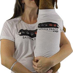 Roupinha para cachorro Estampa Bateria Fraca