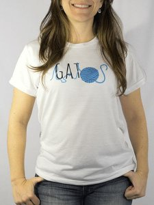 Camiseta Baby Look Estampa Gatos