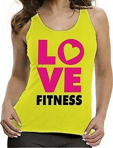Camiseta Regata Feminina Love Fitness