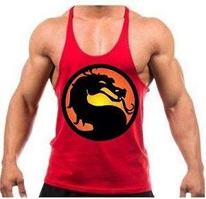 Camiseta Regata Cavada Mortal Kombat
