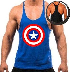 Camiseta Regata Cavada Capitão América