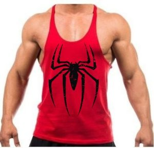 Camiseta regata cavada Homem aranha 96d5084acc7