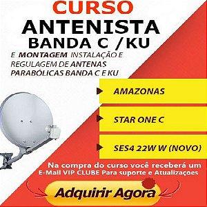 Curso Instalação De Antena Parabólica completo  banda C / Ku em video e 25 apostilas do passo a passo (O MERLHOR CURSO DO BRASIL, SEM FRETE)