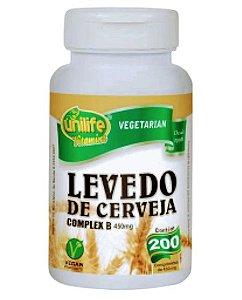 Levedo de Cerveja 450 mg 200 comprimidos - Unilife