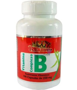 Vitamina Complexo B 250 mg 100 cáps - Rei Terra