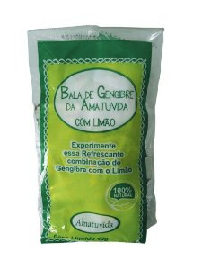 Kit 10 Balas de Gengibre com Limão - Amatuvida