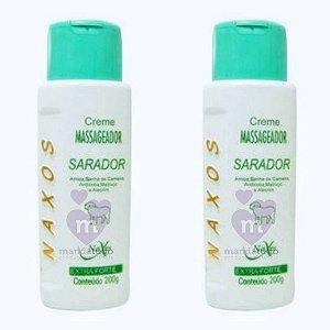 Creme Massageador SARADOR com Arnica e Banha de Carneiro - Kit com 2 - Naxos