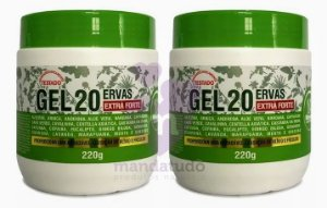 Massageador Gel 20 Ervas 220g - Rhenuks - Kit com 2