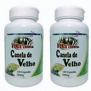 Kit 2 Canela de Velho 500 mg 120 caps - Rei Terra (240 caps) - Melhor Preço!