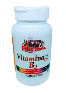 Vitamina B2 500 mg 60 caps - Rei Terra