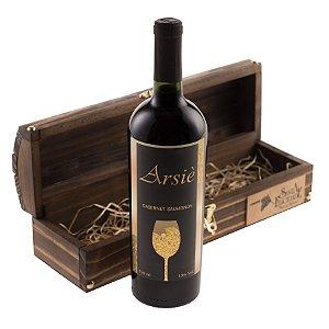 Estojo em Madeira Com 01 Vinho de Mesa Santa Felicidade