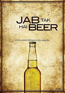 Placa Decorativa Vintage Jab Tak Hai 20x30