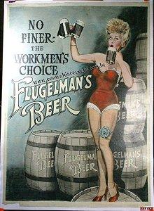 Placa Decorativa Vintage Flugelmans Beers 20x30
