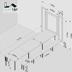 Conjunto Mesa Dobrável 19 Lugares (4 metros) + Bancos