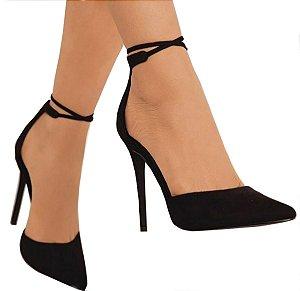 Sapato Scarpin Preto Amaria
