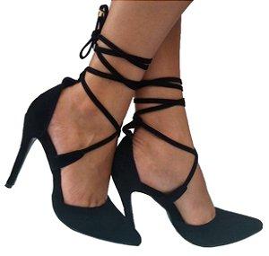 Sapato Scarpin Feminino Preto amaranto