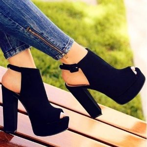 Sandalia Feminina Salto Grosso Ankle boot
