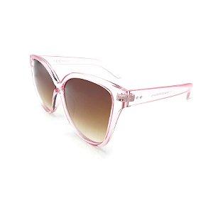 Óculos de Sol Prorider Transparente Rosa Com Lente Degradê Marrom -  YD1792-C3