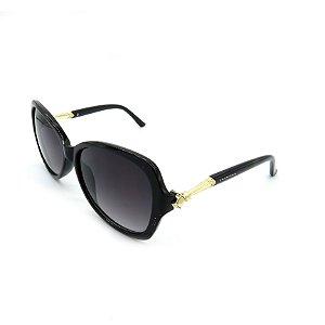 Óculos Solar Prorider Preto e Dourado Com Lente Degradê Fumê - HF8123