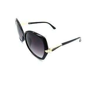 Óculos Solar Prorider Preto e Dourado Com Lente Degradê Fumê - HF8187