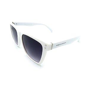Óculos De Sol Prorider Retrô Branco com Lente Degradê Fumê - FY8131-C3