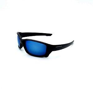 Óculos De Sol Prorider Retrô Preto com Lente Espelhada Azul - SP56696