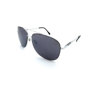 Óculos Solar Prorider Prata Detalhado Com Lente Fumê  - B88-135