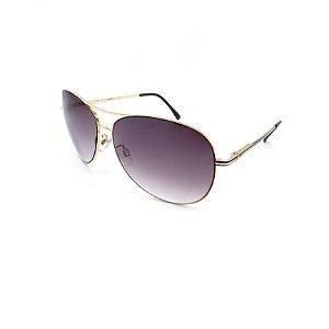 Óculos Solar Prorider Dourado Detalhado Com Lente Degradê Fumê  - B88-133