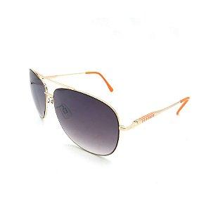 Óculos Solar Prorider Dourado Detalhado Com Lente Degradê Fumê  - B88-138