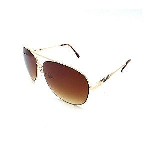 Óculos Solar Prorider Dourado Detalhado Com Lente Degradê Marrom  - B88-140