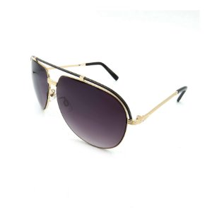 Óculos Solar Prorider Dourado Detalhado Com Lente Degradê Fumê  - B88-143