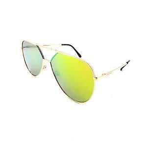Óculos Solar Prorider Dourado Detalhado Com Lente Degradê Fumê  - B88-395