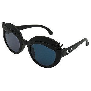 Óculos de Sol Infantil ZJim Silicone Oval Preto