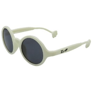 Óculos de Sol Infantil ZJim Silicone Oval Branco