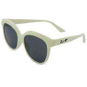 Óculos de Sol Infantil ZJim Silicone Arredondado Branco