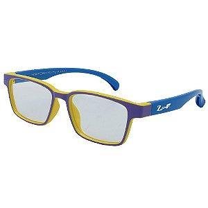 Óculos Para Grau Infantil ZJim Silicone Roxo e Azul