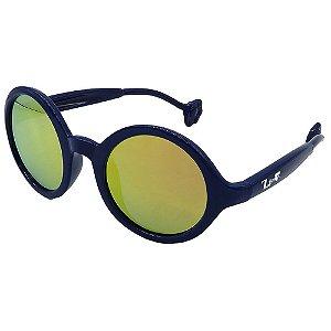 Óculos de Sol Infantil ZJim Silicone Redondo Azul