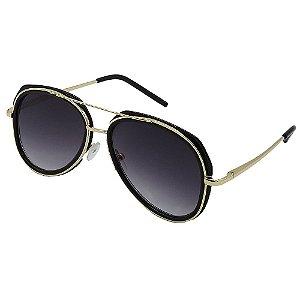 Óculos de Sol Infantil ZJim Metal Aviador Preto