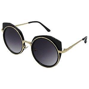 Óculos de Sol Infantil ZJim Metal Redondo Preto