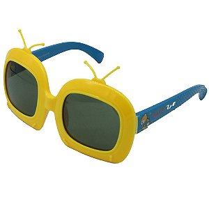 Óculos de Sol Infantil ZJim Silicone Quadrado Amarelo e Azul