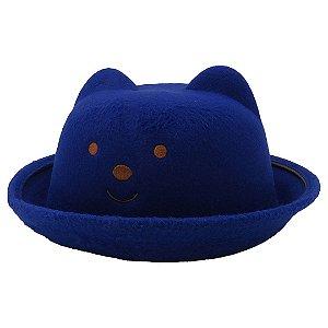 Chapéu Infantil Zjim com Orelhinha Azul