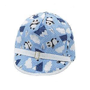 Boné Infantil Zjim Azul estampado