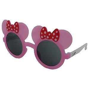 Óculos de Sol Infantil Zjim Orelhinha Rosa e Branco
